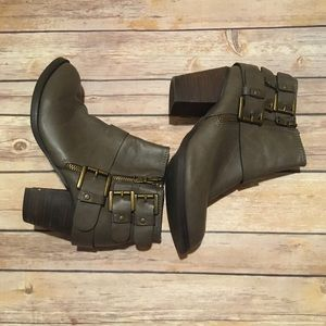 Mossimo Moto Ankle Booties Buckle Detail